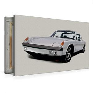 Premium Textil-Leinwand 75 cm x 50 cm quer Porsche 914