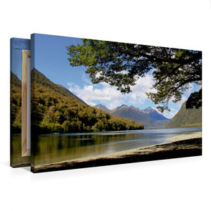 Premium Textil-Leinwand 75 cm x 50 cm quer Mirror Lakes