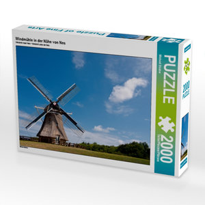 Windmühle in der Nähe von Nes 2000 Teile Puzzle quer