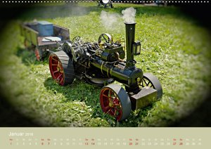 Dampftraktormodelle 1:3 beim Dampfmodellbautreffen in Bisingen