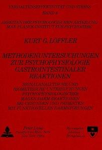 Methodenuntersuchungen zur Psychophysiologie gastrointestinaler