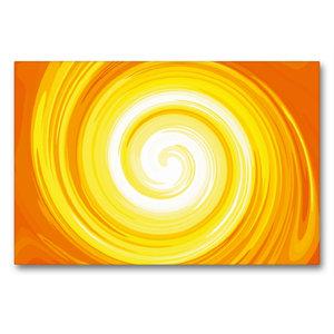 Premium Textil-Leinwand 90 cm x 60 cm quer Sonnenspiralen