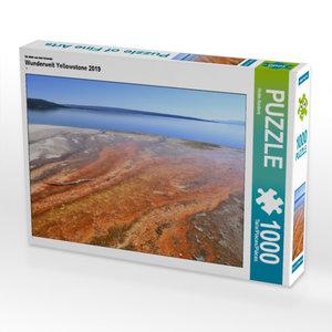 CALVENDO Puzzle Wunderwelt Yellowstone 2019 1000 Teile Lege-Größ