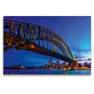 Premium Textil-Leinwand 120 cm x 80 cm quer Coat Hanger - Sydney