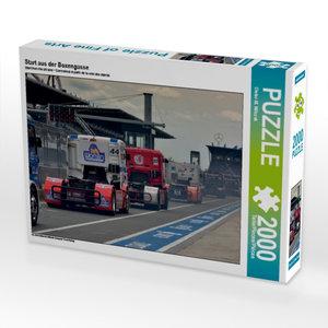 Start aus der Boxengasse 2000 Teile Puzzle quer