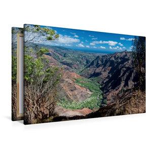 Premium Textil-Leinwand 120 cm x 80 cm quer Waimea Canyon