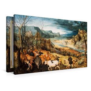 Premium Textil-Leinwand 90 cm x 60 cm quer Heimkehr der Herde (H