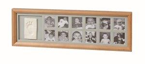 1st Year Print Frame, Eckig, Honey