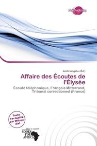 AFFAIRE DES COUTES DE L LYS E