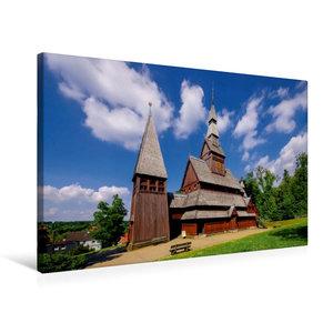 Premium Textil-Leinwand 75 cm x 50 cm quer Gustav-Adolf-Stabkirc