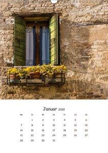 Dai Colori Vivaci - Fenster Italiens (Wandkalender 2019 DIN A3 h