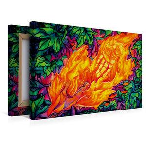 Premium Textil-Leinwand 45 cm x 30 cm quer Flammen des Lebens