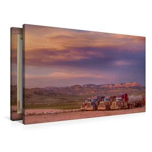 Premium Textil-Leinwand 90 cm x 60 cm quer Sonnenuntergang auf d