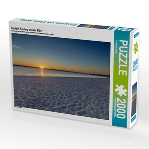Karibik-Feeling an der Elbe 2000 Teile Puzzle quer