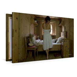 Premium Textil-Leinwand 120 cm x 80 cm quer Trautes Heim