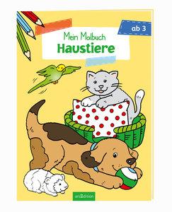 Malbuch ab 3 Jahren - Haustiere VE 5