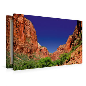 Premium Textil-Leinwand 90 cm x 60 cm quer Zion Nationalpark