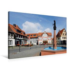 Premium Textil-Leinwand 75 cm x 50 cm quer Marktplatz