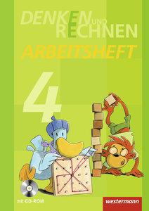Denken und Rechnen 4. Arbeitsheft mit CD-ROM. Grundschule. Hambu