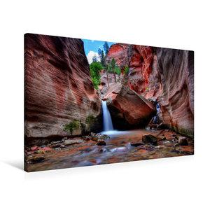 Premium Textil-Leinwand 90 cm x 60 cm quer Kanarra Creek Canyon