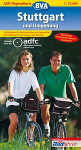 ADFC-Regionalkarte Stuttgart und Umgebung 1 : 75 000
