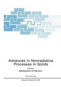 Advances in Nonradiative Processes in Solids