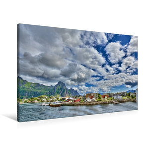 Premium Textil-Leinwand 90 cm x 60 cm quer Svolvær
