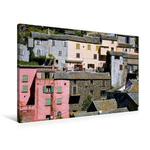 Premium Textil-Leinwand 90 cm x 60 cm quer Häuser von Nonza