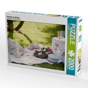 Picknick im Grünen 2000 Teile Puzzle quer