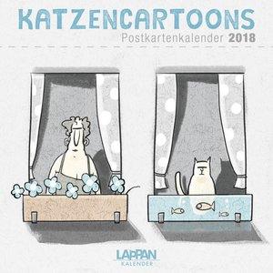 Katzencartoons - Postkartenkalender 2018