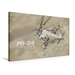 Premium Textil-Leinwand 75 cm x 50 cm quer Mi-24
