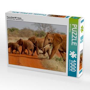 CALVENDO Puzzle Tsavo East NP, Kenia 1000 Teile Lege-Größe 64 x