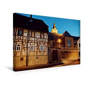 Premium Textil-Leinwand 45 cm x 30 cm quer Abendlicher Blick zum