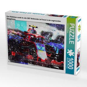 CALVENDO Puzzle Kimi Räikkönen wurde im Jahr 2007 Weltmeister im