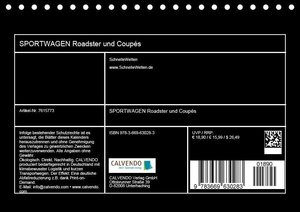 SPORTWAGEN Roadster und Coupés (Tischkalender 2019 DIN A5 quer)