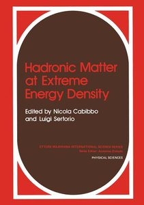 Hadronic Matter at Extreme Energy Density