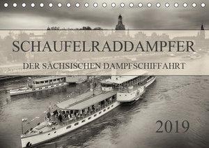 Schaufelraddampfer der Sächsischen Dampfschiffahrt (Tischkalende
