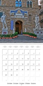 Florence City of Art (Wall Calendar 2018 300 × 300 mm Square)