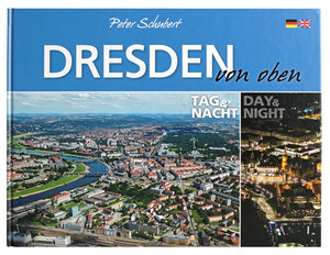Dresden von oben - Tag und Nacht