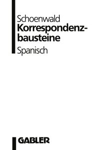 Korrespondenzbausteine Spanisch