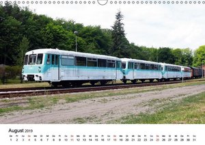 Eisenbahnen auf Usedom (Wandkalender 2019 DIN A3 quer)
