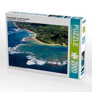 Urlaubsgrüße aus dem Paradies 2000 Teile Puzzle quer
