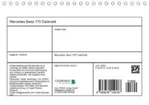 Mercedes Benz 170 Cabriolet (Tischkalender 2019 DIN A5 quer)