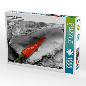 Pepperoni als Colorkey 1000 Teile Puzzle quer