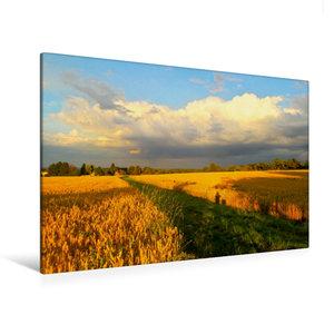 Premium Textil-Leinwand 120 cm x 80 cm quer Wolkenspiel - Gewitt