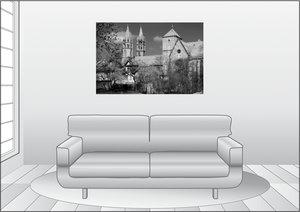 Premium Textil-Leinwand 120 cm x 80 cm quer Liebfrauenkirche