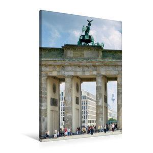 Premium Textil-Leinwand 60 cm x 90 cm hoch BERLIN Brandenburger