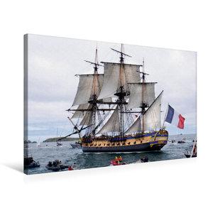 Premium Textil-Leinwand 75 cm x 50 cm quer Het fregat Hermione,