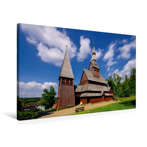 Premium Textil-Leinwand 90 cm x 60 cm quer Gustav-Adolf-Stabkirc