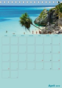 Karibik - Sonne, Strand und Palmen (Tischkalender 2019 DIN A5 ho